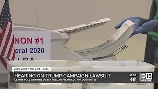 Hearing on Trump campaign lawsuit