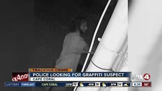 Cape Coral Police searching for graffiti suspect