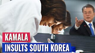 INSULT: KAMALA HARRIS WIPES HER HAND AFTER SHAKING HANDS WITH SOUTH KOREAN PRESIDENT