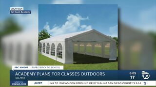 Private school builds outdoor tents to bring students safely back to school