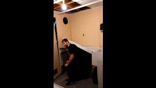 Basement remodel kitchenette squat pr