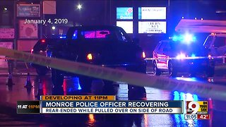 Monroe police officer recovering after serious crash