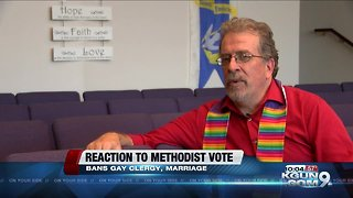 Local Methodist pastor reacts to vote banning same-sex marriage, gay clergy