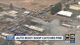Fire destroys Glendale auto repair shop