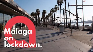 Málaga deserted after coronavirus surge