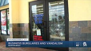 Multiple Boynton Beach businesses hit by burglars, vandals recently