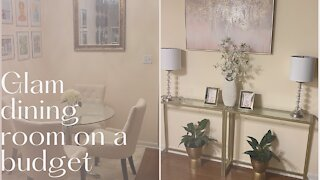 Glam dining room on a budget!