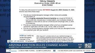Arizona eviction rules change again amid pandemic