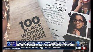Loyola University of Maryland celebrates professor featured in Essence Magazine