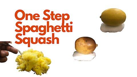One Step Spaghetti Squash
