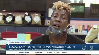Local nonprofit collects hygiene products for vulnerable youth