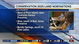 Conservation 2020 land nominations announced