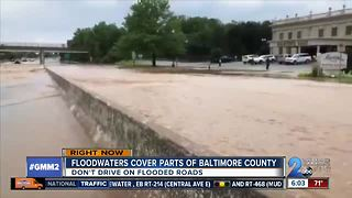 Heavy rains causing major flooding in Baltimore County