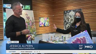 Watch a local artist paint today at Naples Botanical Garden