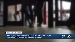 Anne Arundel County educators demand collaboration, reopening agreement