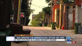 Security guard impersonating police officer arrested, charged with sexual assault