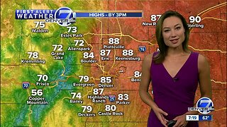 Warmer, with scattered storms and showers Sunday