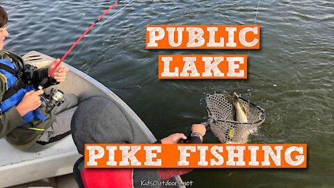 S2:E25 Public Lake Pike Fishing | Kids Outdoors