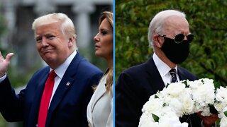 President Trump, Former VP Biden Take Part in Memorial Day Observances
