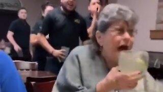 Woman's priceless reaction to restaurant's birthday surprise