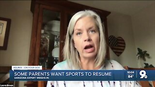 UArizona expert weighs in on returning to sports