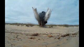 Detonation of WWII-era bomb