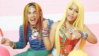 Nicki Minaj's Dressing Room HIT With A Bullet During Tekashi69 Music Video Shoot