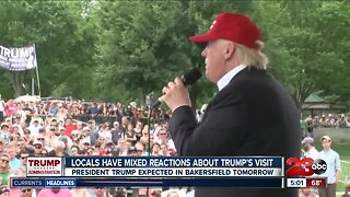 Bakersfield locals have mixed reactions to President Trump's visit to Kern County