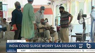 India COVID surge worry San Diegans