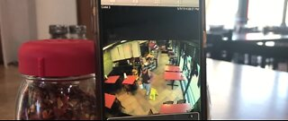 CAUGHT IN THE ACT: Crook steals tip jar from Above the Crust Pizza