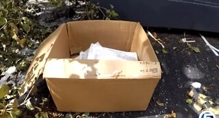 Stacks of tax documents found by dumpster