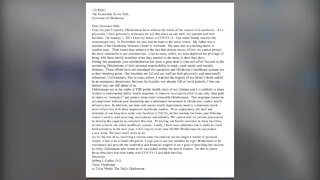 Tulsa doctor sends letter to governor