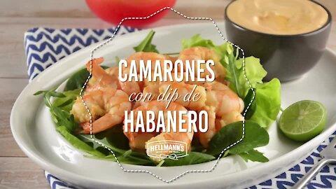 Shrimp with Mojo de Ajo with Dip de Habanero