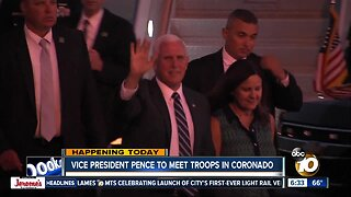 VP Pence meeting with troops at San Diego bases