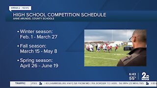 High school sports schedules