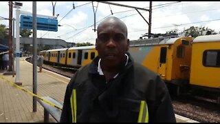 SOUTH AFRICA - Pretoria - Train collision (Videos) (PFV)
