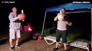 Basketball Beer Challenge tem conclusão dolorsa!