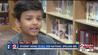 Jenks' third grader prepares for Scripps National Spelling Bee.