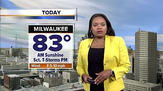 Partly cloudy Saturday, chance for scattered showers this afternoon