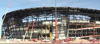 Crews install doors at Allegiant Stadium