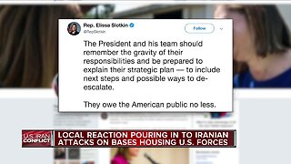 Local reaction pouring in to Iranian attacks on bases housing U.S. Forces