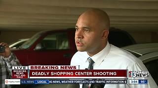 Police discuss deadly shooting at Las Vegas Boulevard shopping center