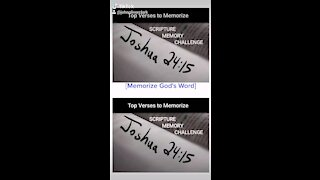 Top Verses To Memorize, Joshua 24:15b