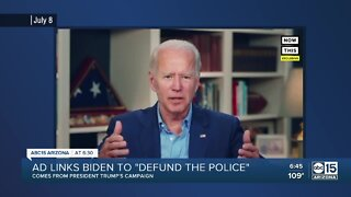 """Fact Check: Ad links Biden to """"Defund the police"""""""
