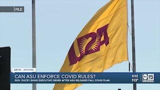 Can ASU enforce COVID rules?