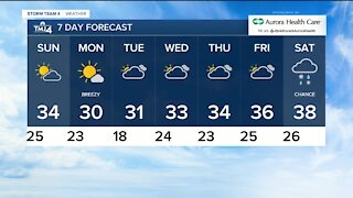 Cloudy, cool and breezy Saturday night