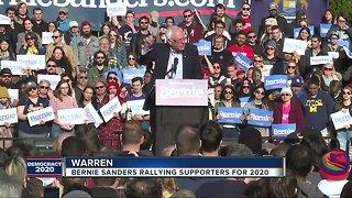 Bernie Sanders rallies in Warren, Michigan