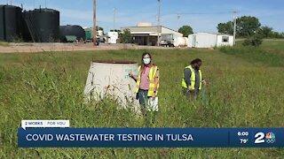 COVID wastewater testing in Tulsa