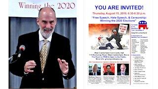 Free Speech, Hate Speech, & Censorship: Winning the 2020 Elections