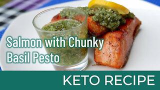 Salmon with Chunky Basil Pesto | Keto Diet Recipes